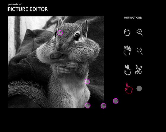 Gesture-based Picture Editor